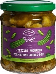 Augurken zoet-zuur Your Organic Nature 330 gram
