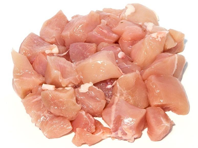 Bami/nasi vlees (kipstukjes diepvries) +/- 250 gram