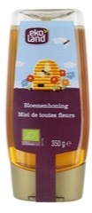 Bloemenhoning knijpfles Ekoland 350 gram