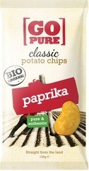 Classic chips paprika Go Pure 125 gram
