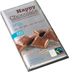 chocolade reep melk 34% happy chocolate