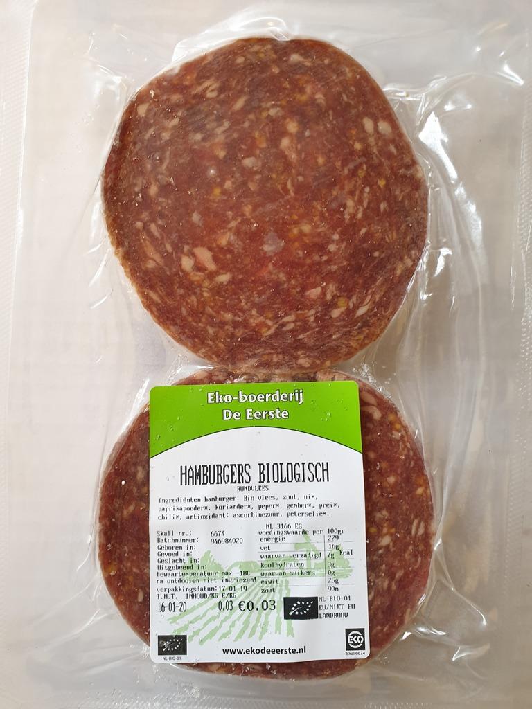 Biologische hamburgers 2 stuks