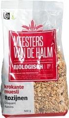 Cruesli rozijnen Meesters van de Halm 500 gram