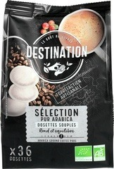 EU-BIO Koffiepads selection Destination 36 st