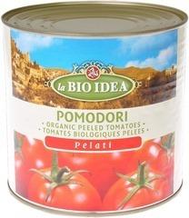 Gepelde tomaten groot blik  La Bio Idea 2.5 kg