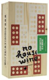 Geschenkverpakking wijn No House Wine bordeauxkist 2-vaks