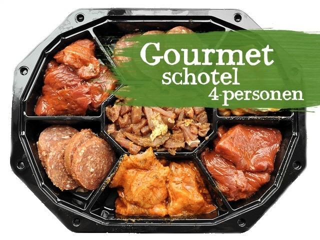 Gourmetschotel (op bestelling)