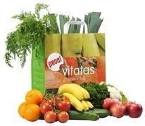Groentetas en Fruittas in één voor 1 persoon, combi