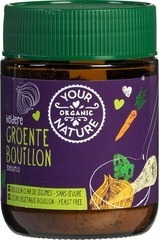 bouillonpoeder groente zonder gist (heldere) Your Organic Nature 150 gram