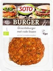 Vegetarische Groenteburger met rode linzen Soto 160 gram