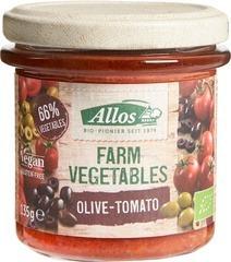 Groentespread olijf - tomaat Allos 135 gram