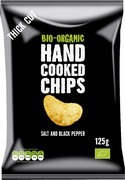 Hand cooked chips zout-zwarte peper 125 gr