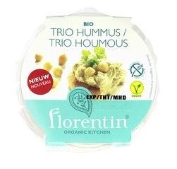 Hummus trio Florentin 180 gram (op bestelling)