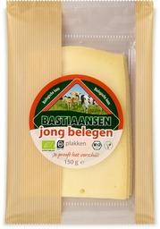 Kaas jong belegen plakken Bastiaansen 150 gram