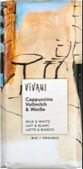 Melk-/ witte chocolade - cappuccino Vivani 100 gram