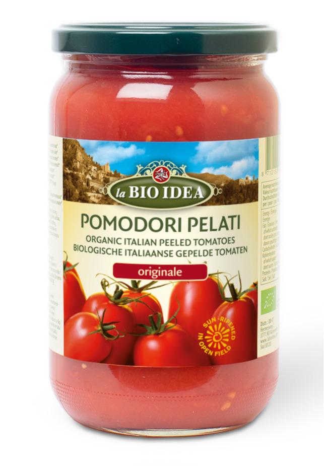 Gepelde tomaten Pomedori pelati La Bio Idea 660 gram