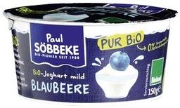 Pur blauwe bes yoghurt Söbbeke 150 gram