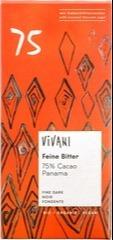 Pure chocolade 75% Vivani 80 gram