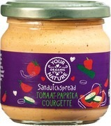 sandwichspread Your Organic Nature tomaat paprika courgette 180 gram