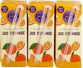 Sinaasappelsap pakjes