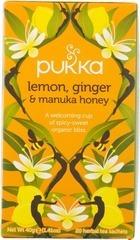 Thee Lemon-ginger & manuka honey, Pukka 20 builtje
