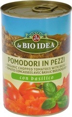 Tomatenstukjes basilicum La Bio Idea 400 gram