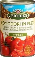 Tomatenstukjes in blik La Bio Idea 400 gram