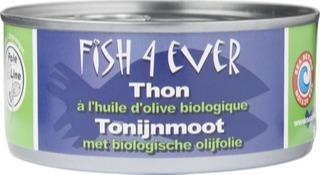 Tonijnmoot met olijfolie Fish 4 Ever 160 gram