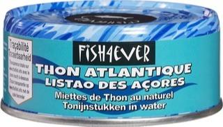 Tonijnstukken in water Fish 4 Ever 160 gram