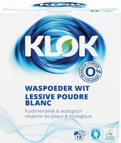 Klok Eco waspoeder wit 1,2 kg