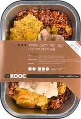 Wilde zalm met rode rijst en zeekraal 500 gram (op bestelling)