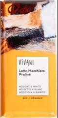 Witte chocolade - praliné/macchiato Vivani 100 gram