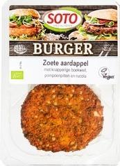 Vegetarische Zoete aardappelburger Soto 160 gram