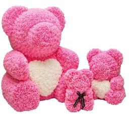 Roze synthetische beren