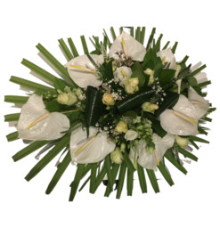Wit anthurium bloemstuk