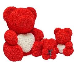 Rode synthetische beren