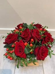 Bloemstuk rode rozen