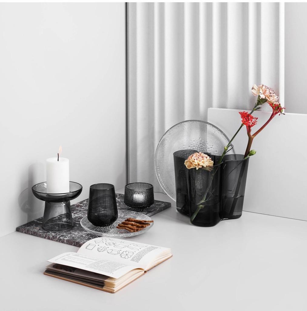 Alvar Aalto Collection vaas donker grijs