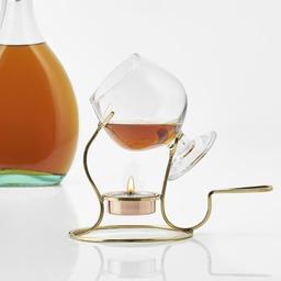 Cognac glas met verwarmer