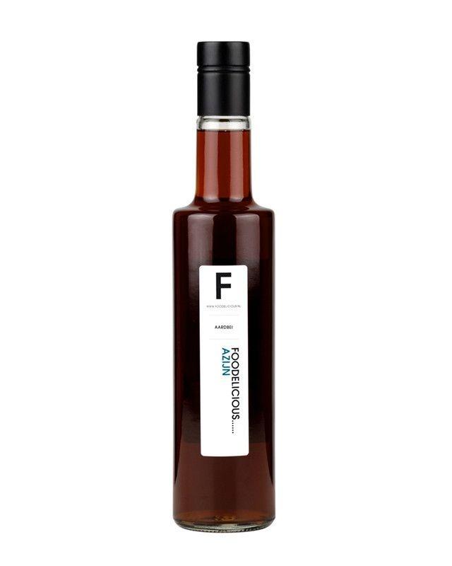 Foodelicious aardbei azijn 500ml
