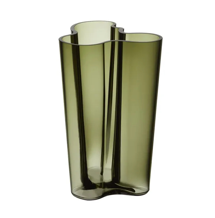 Iittala Alvar Aalto Collection vaas mosgroen