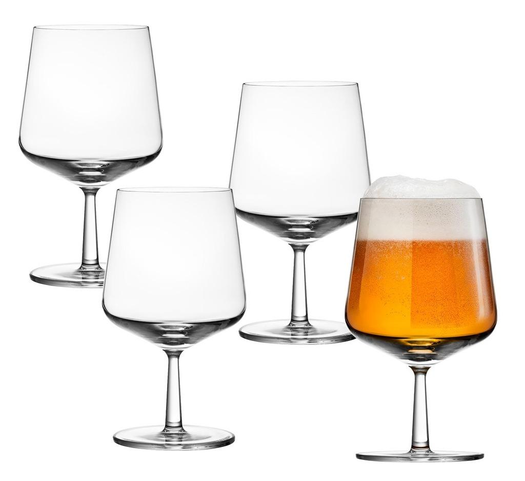 IIttala Essence bierglas set van 4.  Nu 6 = 4 bij aankoop van 4 glazen 2 glazen kado.