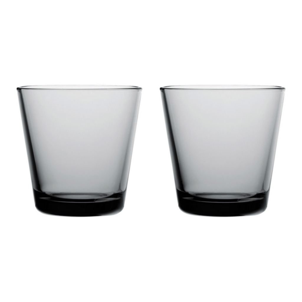 Iittala Kartio glas 21 cl 2 stuks grijs