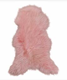 Oud roze geverfd Texels schapen vacht