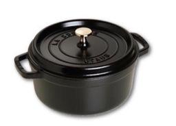 Staub braadpan zwart 24 cm van €  229,00 nu € 185,00