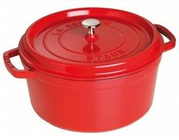Staub braadpan rood 24 cm van €  229,00 nu € 185,00