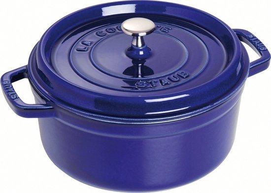 Staub cocotte 26cm intens blauw van € 269,00 voor € 215,00