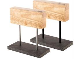 Style de Vie magnetisch messenblok eiken met stenen voet